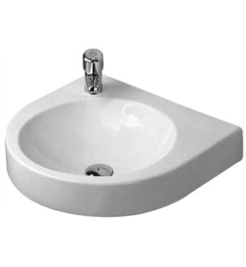 "Duravit 0449580023 Architec 22 5/8"" Wall Mount Bathroom Sink with Tap Platform With WonderGliss Surface Finish: Without WonderGliss And Faucet Holes: Single Hole on Left Side Soap Dispenser on Right Side"