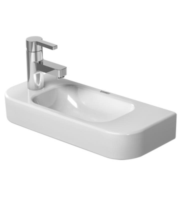 Duravit 0711500008 Happy D 2 19 5 8 Wall Mount Vanity Bathroom Sink Without Overflow And With