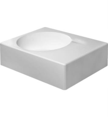 "Duravit 06846000 Scola 24 1/4"" Wall Mount Bathroom Sink Bowl on Left Side with Overflow"