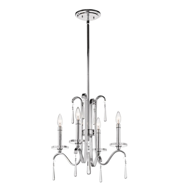 Kichler 43287CH Tara Collection Chandelier 5 Light in Chrome