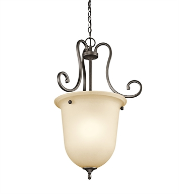 Kichler 43181OZ Feville Collection Foyer Pendant 1 Light in Olde Bronze
