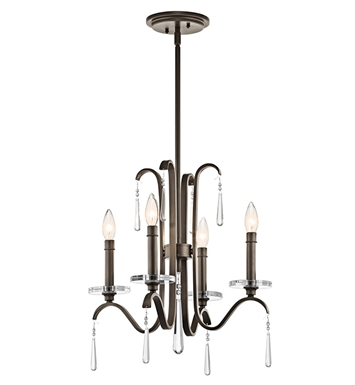 Kichler 43287OZ Tara Collection Chandelier 5 Light in Olde Bronze