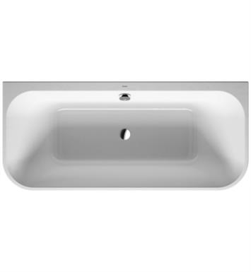 "Duravit 700318000000090 Happy D.2 70 7/8"" Back-To-Wall Acrylic Soaking Bathtub with Two Backrest Slopes"