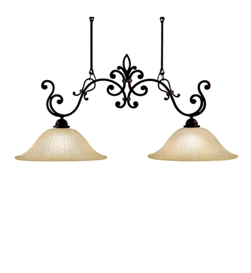 Kichler 3894CZ Wilton Collection Chandelier Island 2 Light in Carre Bronze