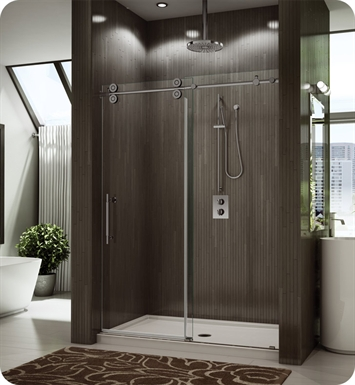 "Fleurco KT53-35-40L-C Kinetik in Line Door and Panel (One Sided) With Dimensions: Width: 53"" to 55"" 
