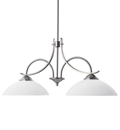 Kichler Olympia Collection Chandelier Island 2 Light in Antique Pewter