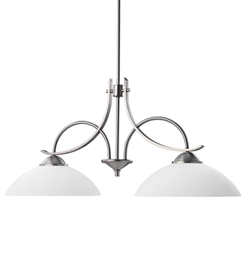 Kichler 2978AP Olympia Collection Chandelier Island 2 Light in Antique Pewter