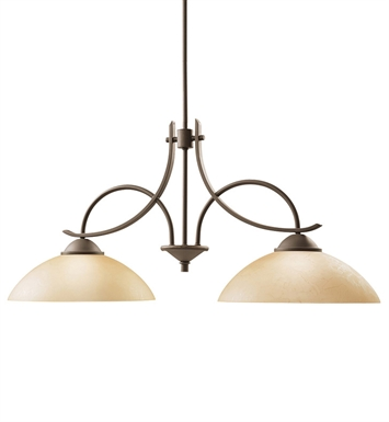 Kichler 2978OZ Olympia Collection Chandelier Island 2 Light in Olde Bronze