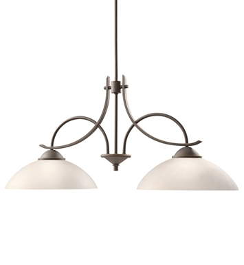 Kichler 2978OZW Olympia Collection Chandelier Island 2 Light in Olde Bronze