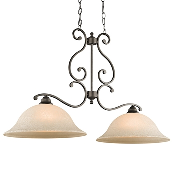 Kichler 43231OZ Camerena Collection Chandelier Island 2 Light in Olde Bronze