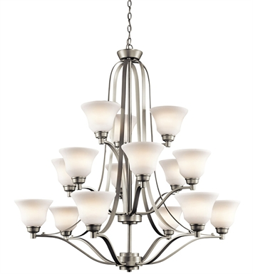 Kichler 1789NI Chandelier 3 Tier With Finish: Brushed Nickel
