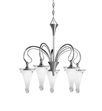 Kichler Raindrops Collection Chandelier 5 Light in Brushed Nickel