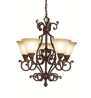 Kichler 2049TZG Larissa Collection Chandelier 5 Light in Tannery Bronze