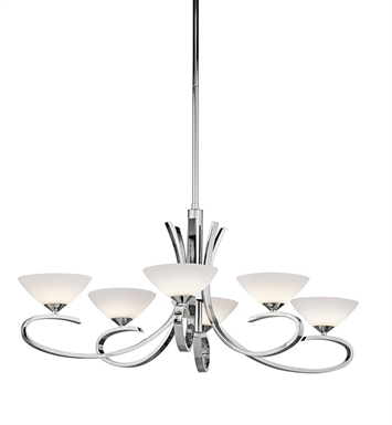Kichler 43022CH Brooklands Collection Chandelier 6 Light in Chrome
