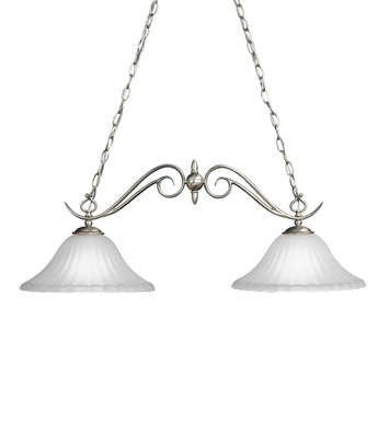 Kichler 2929TZ Willowmore Collection Chandelier Island 2 Light With Finish: Tannery Bronze