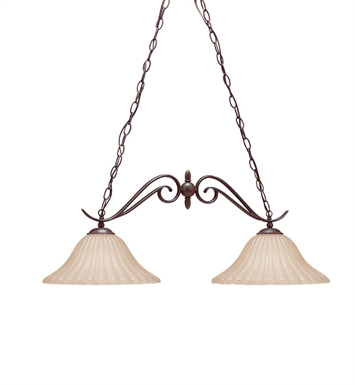 Kichler 2929TZ Willowmore Collection Chandelier Island 2 Light in Tannery Bronze