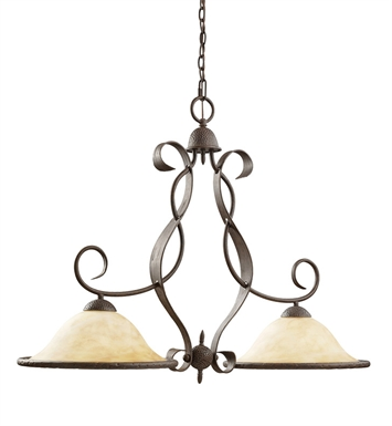 Kichler 2971OI High Country Collection Chandelier Island 2 Light in Old Iron