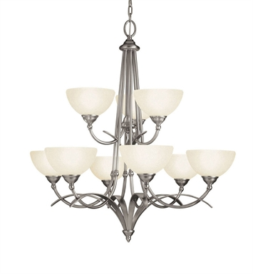Kichler 2133AP Chandelier 9 Light in Antique Pewter