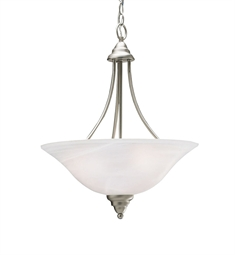 Kichler Telford Collection Inverted Pendant 3 Light in Brushed Nickel