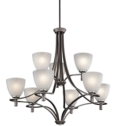 Kichler Neillo Collection Chandelier 9 Light in Anvil Iron