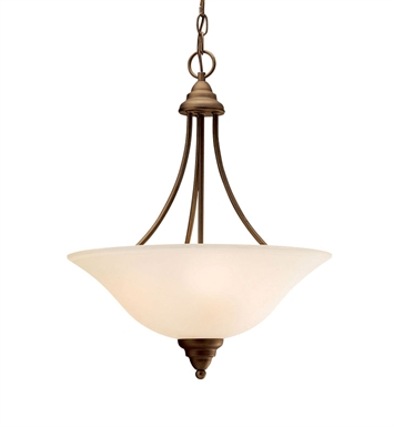 Kichler 3277OZ Telford Collection Inverted Pendant 3 Light in Olde Bronze
