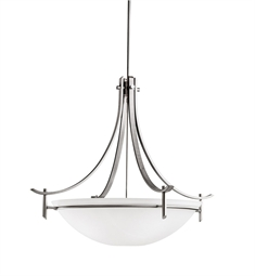 Kichler Olympia Collection Inverted Pendant 5 Light in Antique Pewter