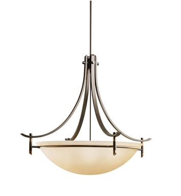 Kichler 3279OZ Olympia Collection Inverted Pendant 5 Light in Olde Bronze