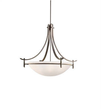 Kichler 3279OZW Olympia Collection Inverted Pendant 5 Light in Olde Bronze