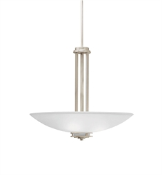 Kichler Hendrik Collection Inverted Pendant 3 Light in Brushed Nickel