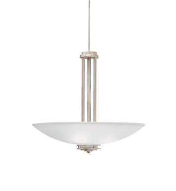Kichler 3275NI Hendrik Collection Inverted Pendant 3 Light in Brushed Nickel