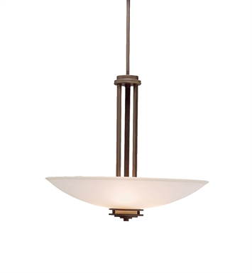 Kichler 3275OZ Hendrik Collection Inverted Pendant 3 Light in Olde Bronze