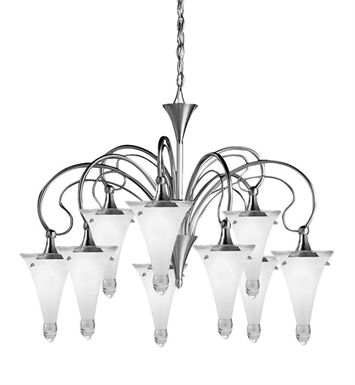 Kichler Raindrops Collection Chandelier 9 Light in Brushed Nickel