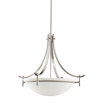 Kichler 3278AP Olympia Collection Inverted Pendant 3 Light in Antique Pewter
