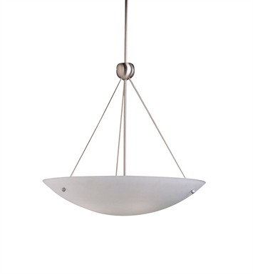 Kichler 2754NI Family Space Collection Inverted Pendant 4 Light in Brushed Nickel