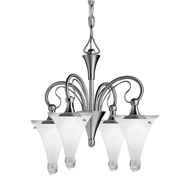 Kichler 2353NI Raindrops Collection Mini Chandelier 4 Light in Brushed Nickel