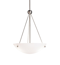 Kichler Family Space Collection Inverted Pendant 3 Light in Brushed Nickel