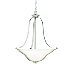 Kichler Inverted Pendant 3 Light in Brushed Nickel