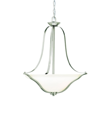 Kichler 3384NI Inverted Pendant 3 Light in Brushed Nickel