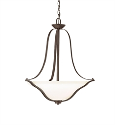 Kichler Inverted Pendant 3 Light in Olde Bronze