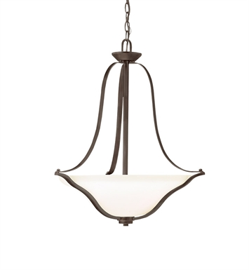 Kichler 3384OZ Inverted Pendant 3 Light in Olde Bronze