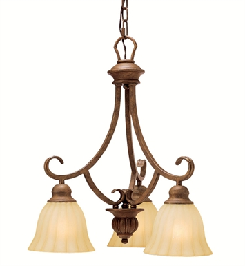 Kichler 1723LBZ Northam Collection Chandelier 3 Light in Lincoln Bronze