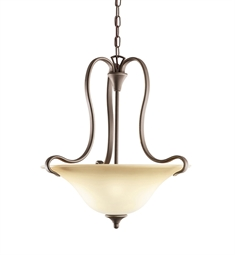 Kichler Wedgeport Collection Inverted Pendant 2 Light in Olde Bronze