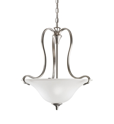 Kichler Wedgeport Collection Inverted Pendant 2 Light in Brushed Nickel