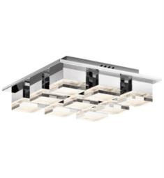 "Elan Lighting 83958 Gorve 9 Light 16 1/4"" LED Warm White Flushmount Ceiling Light in Chrome Finish"