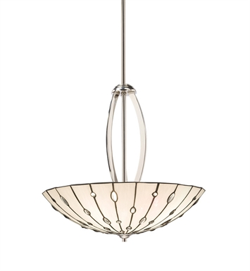 Kichler 65332 Cloudburst Collection Inverted Pendant 4 Light