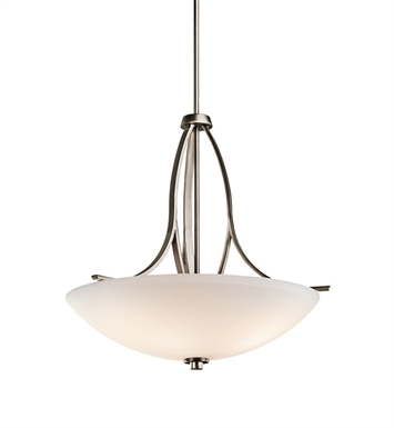 Kichler 42561BPT Granby Collection Inverted Pendant 3 Light in Brushed Pewter