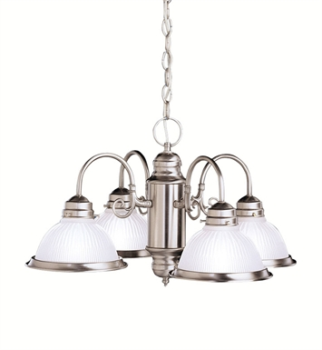 Kichler Cape May Collection Chandelier 4 Light in Brushed Nickel