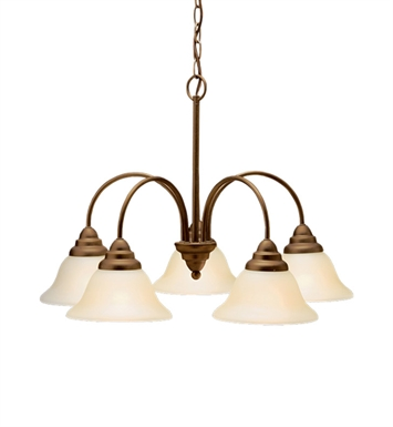 Kichler 10704OZ Telford Collection Chandelier 5 Light Fluorescent in Olde Bronze