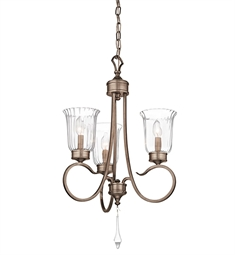 Kichler Malina Collection Chandelier 3 Light in Bronze