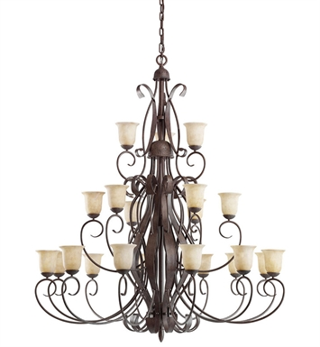 Kichler 2114OI High Country Collection Chandelier 21 Light in Old Iron